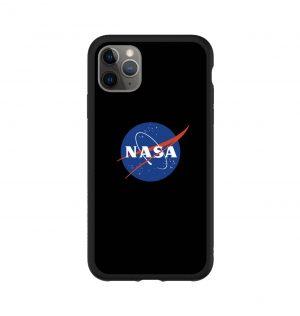 Phone case with NASA insignia (black bumper)