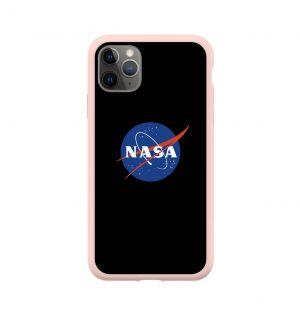 Phone case with NASA insignia (pink bumper)