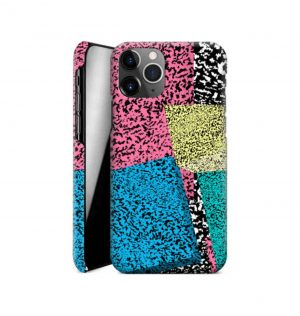 Phone case with retro print comprising of colorful geometric forms (hard)