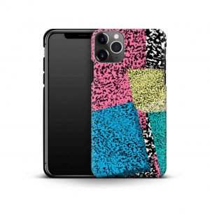Phone case with retro print comprising of colorful geometric forms (premium)