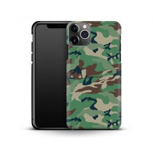 Phone case with green camo print (premium)