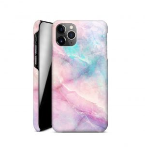 Pink and purple marble phone case (hard)