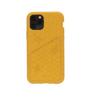 Honey eco-friendly wallet phone case (front)