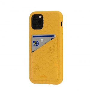 Honey eco-friendly wallet phone case (side 1)