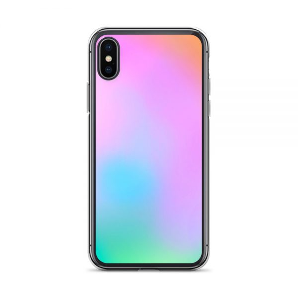 Pink and green ombré phone case (iPhone XS Max)