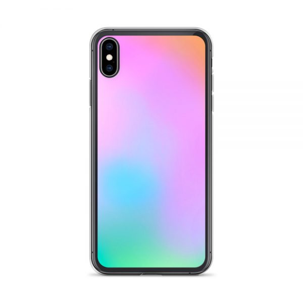 Pink and green ombré phone case (iPhone X/XS)