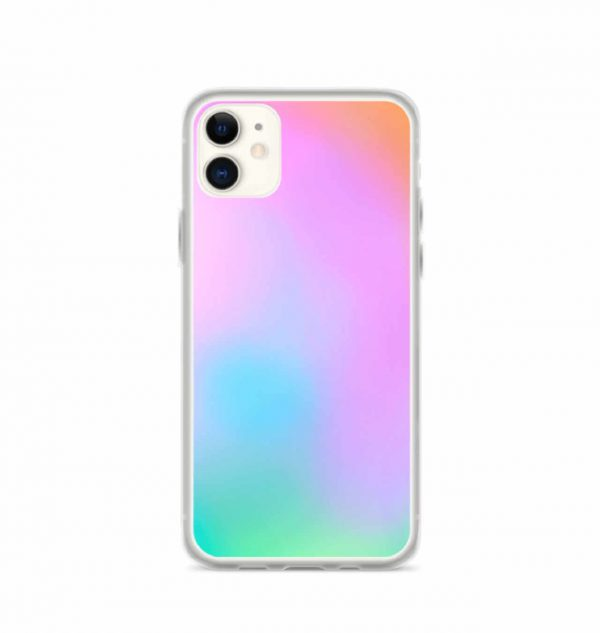 Pink and green ombré phone case (iPhone 11)