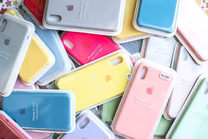 Pile of soft silicone phone cases
