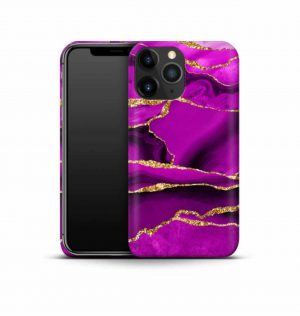 Magenta marble phone case (hard)