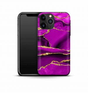 Magenta marble phone case (premium)
