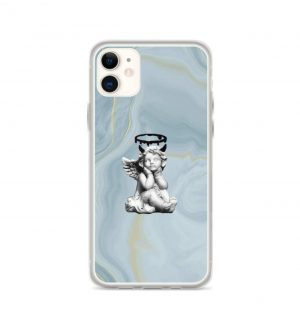 Super cute marble angel phone case